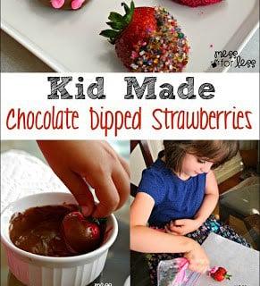Kid Made Chocolate Covered Strawberries
