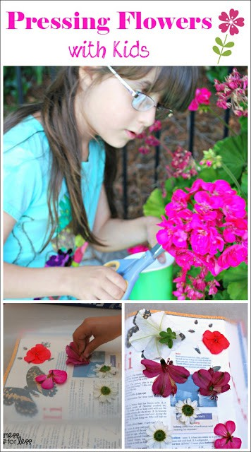 Pressing Flowers with Kids - Get out and enjoy nature with this fun activity! #RaisingGoodApples AD