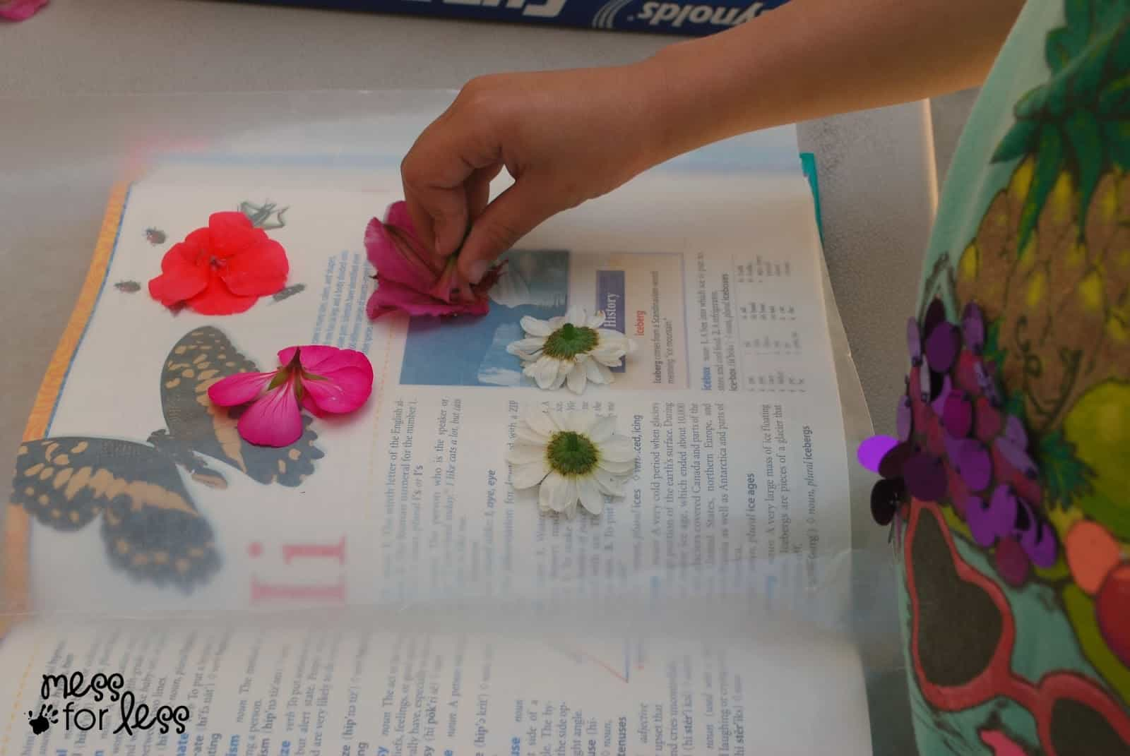 Pressing Flowers With Kids Mess For Less
