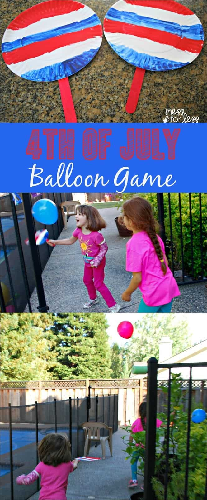 Patriotic game for kids mess for less for Fun balloon games for kids