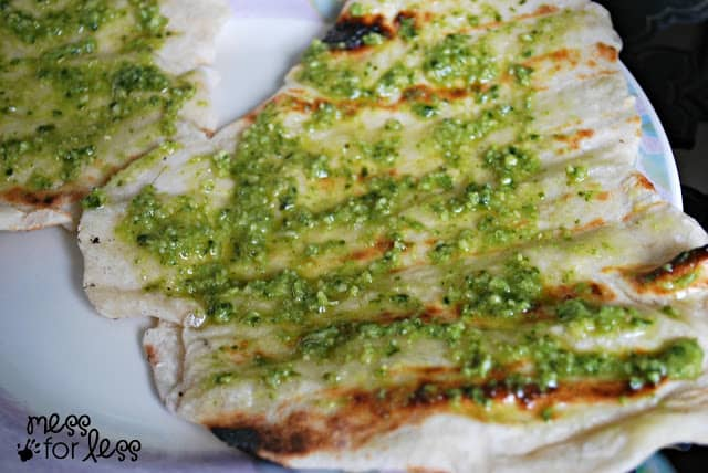 pesto flatbread recipe #ad