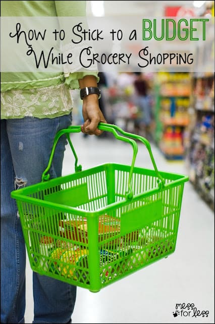 How to Stick to a Budget While Grocery Shopping - Simple tips to help you save money and spend less at the grocery store. Visa Clear Prepaid AD