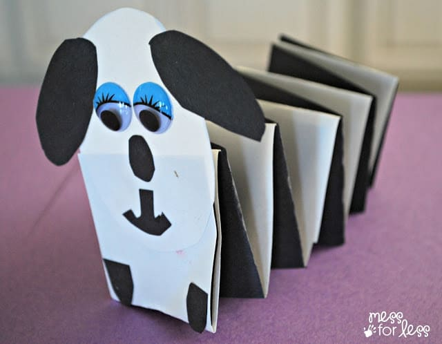 paper crafts for kids - spring dog