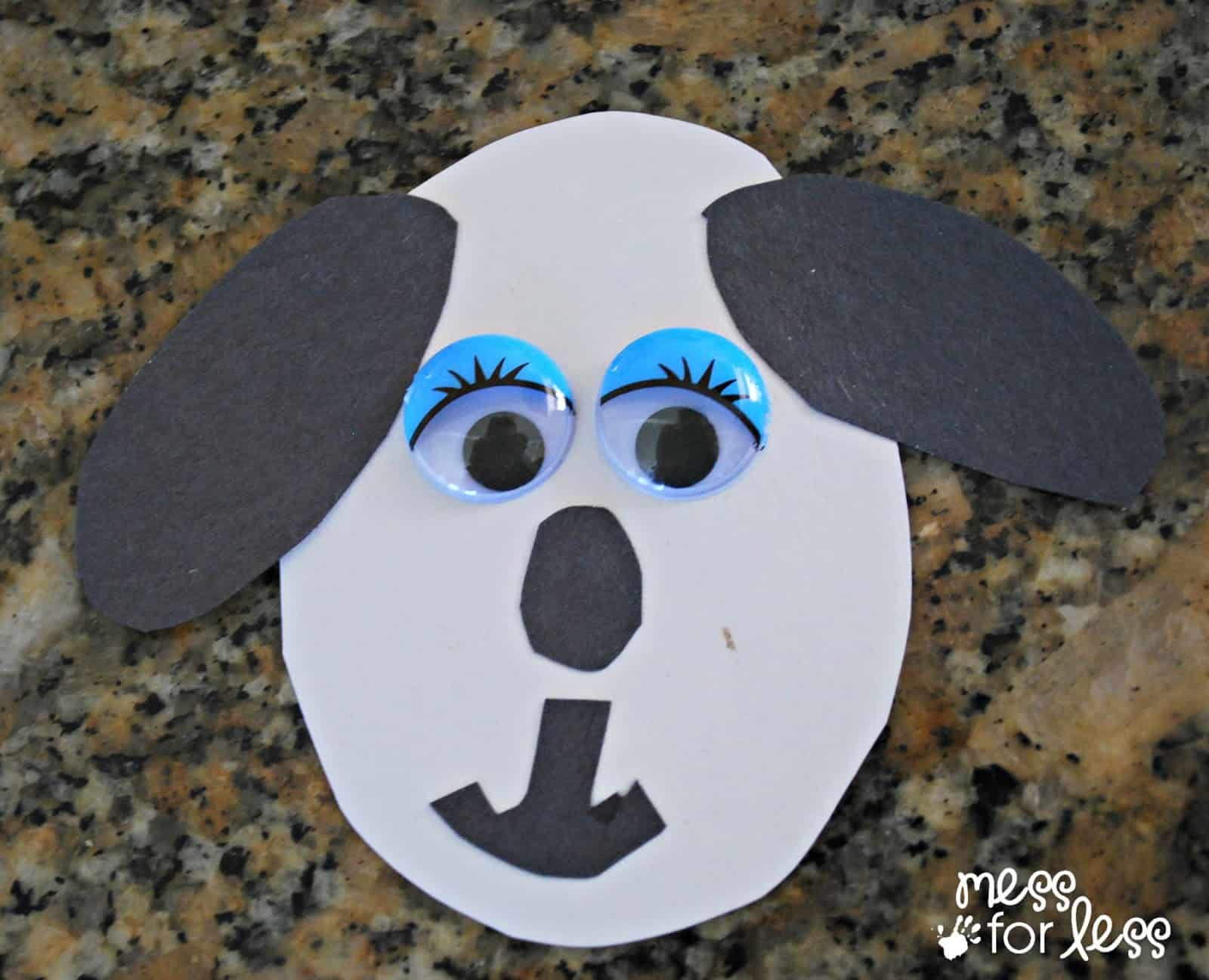 Paper Crafts For Kids Spring Dog Mess Less Jeuxipadfo Image Collections