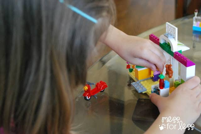 playing with Lego Juniors #LEGOSummer #CleverGirls #sponsored