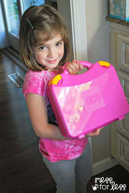 on the go with Lego Juniors Suitcase #LEGOSummer #CleverGirls #sponsored