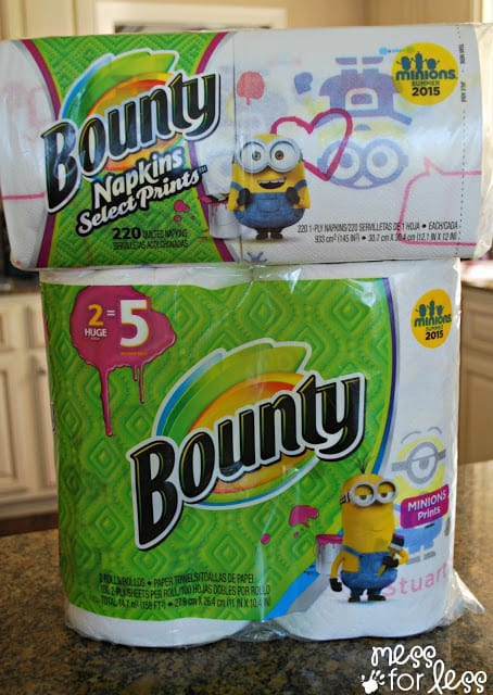 Bounty Minions Prints sponsored #Minions #QuickerPickerUpper.