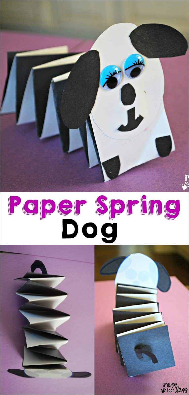Paper crafts for kids spring dog mess for less for Things to make out of construction paper