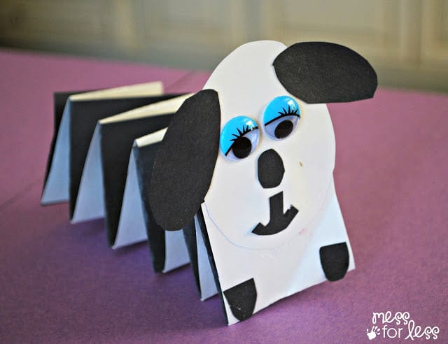 Kids paper crafts - spring dog