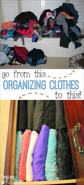 Clothing Organization Tips - Easy steps to get your clothing organized. You won't believe how much space you create! VisaClearPrepaid AD