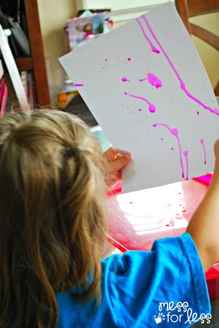 kids art watercolor painting