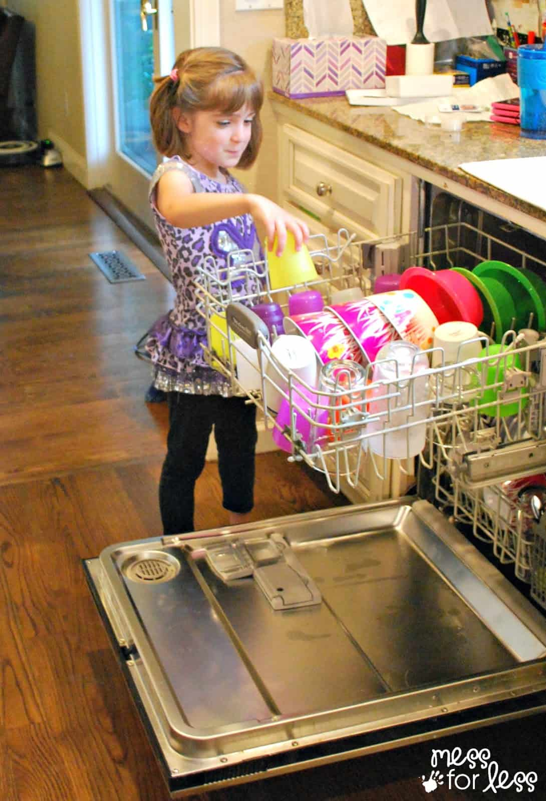 Tips To Teach Kids To Use The Dishwasher