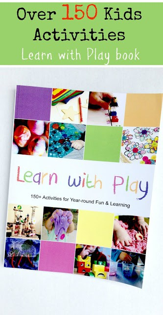 Over 150 kids activities can be found in the Learn with Play book! Great to have on hand this summer!