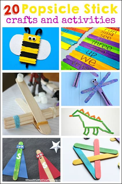20 Popsicle Stick Crafts And Activities Mess For Less