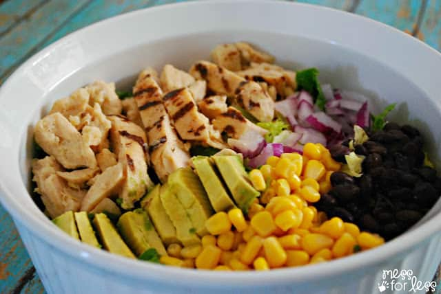 Easy chicken salad recipe ReadySetChicken AD