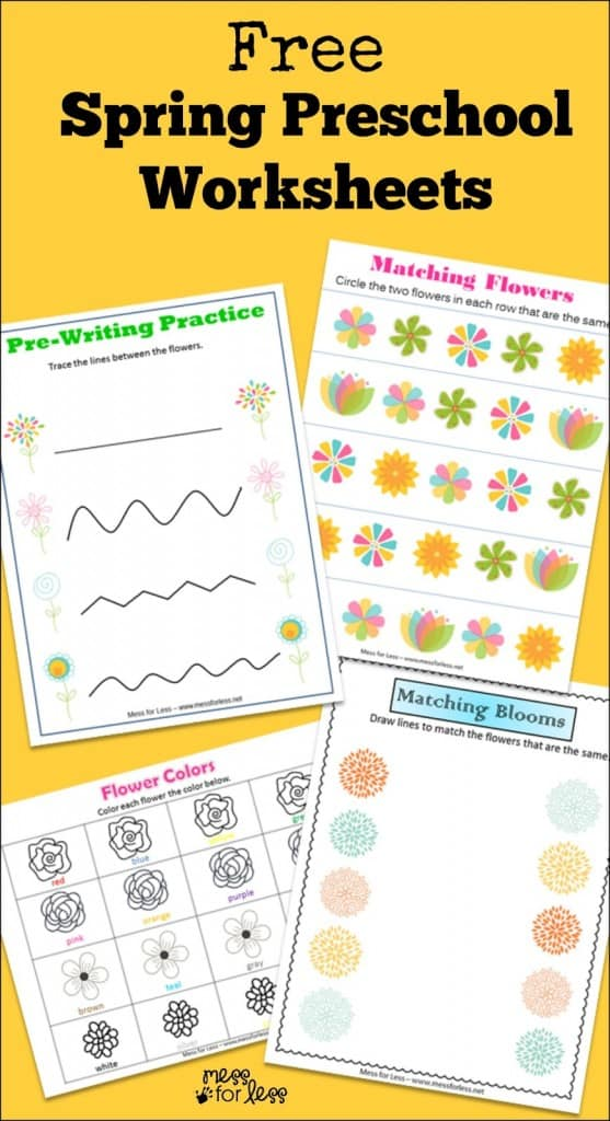 Firefighter Kindergarten Worksheets Mess for Less – Free Download Worksheets for Kindergarten