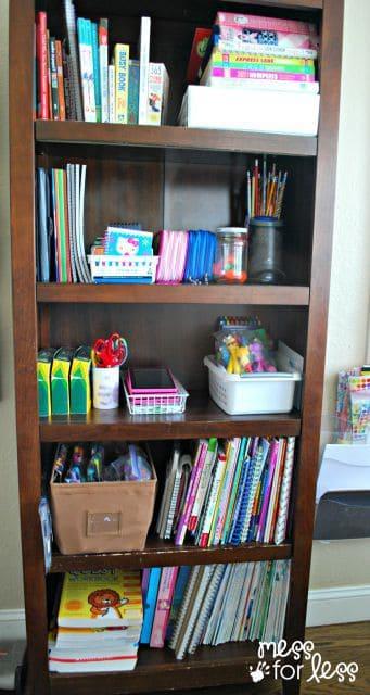 kids supplies organization tips
