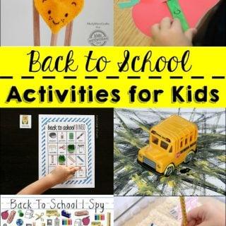 Back to School Activities for Kids