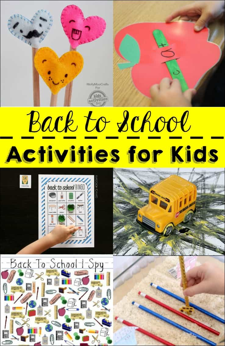 I wanted to get my kids excited for school so I we did some of these back to school activities. So much fun and got the kids excited to start a new year!