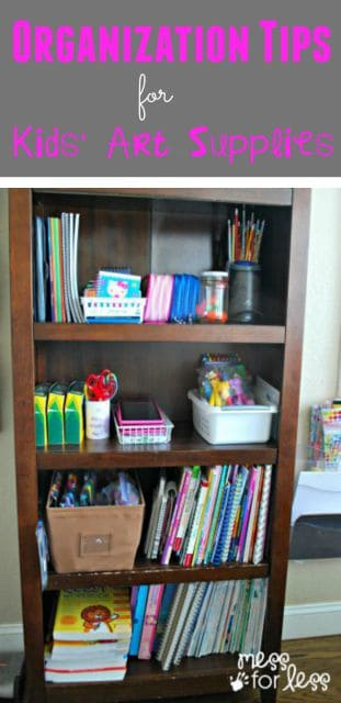 I found these organization tips for kid's art supplies so helpful! AD #PuracynPlusCleanFirst