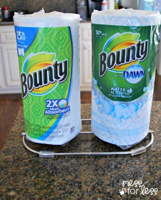 bounty paper towel holder #QuickerPickerUpper #spon