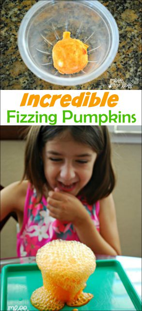 Fizzing Pumpkins Halloween Activity - kids will be amazed and delighted as miniature pumpkins fizz and bubble.