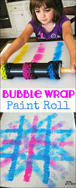 kids-painting-with-rolling-pins-1