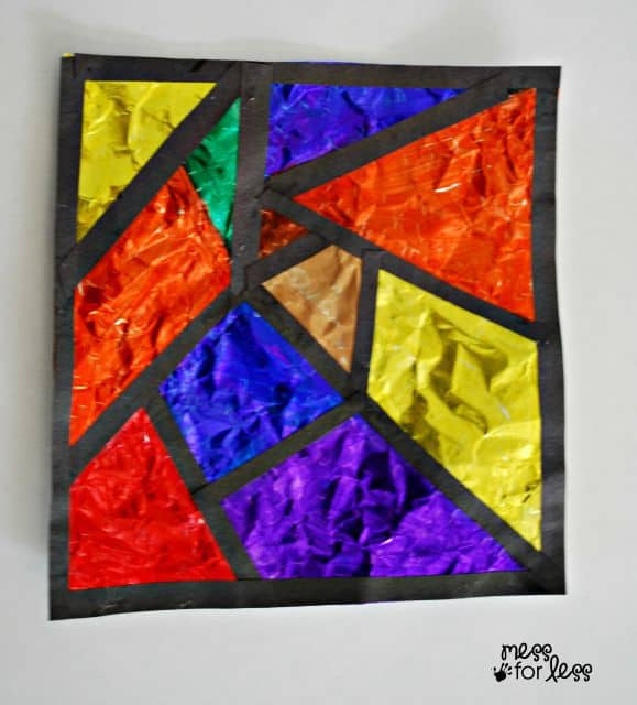 kids stained glass art