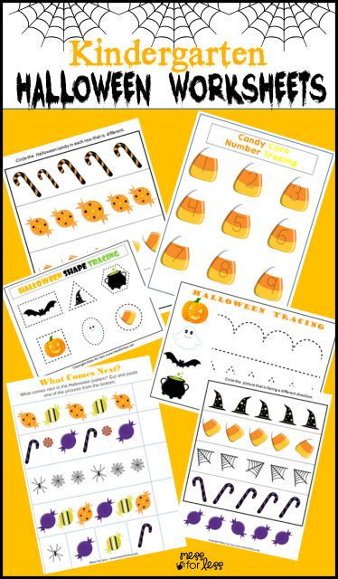Free Kindergarten Halloween Worksheets - Great Halloween printable for kids!