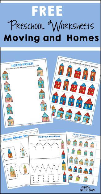Free Preschool and Kindergarten Worksheets for Christmas - Mess ...