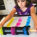 Kids Painting with Rolling Pins