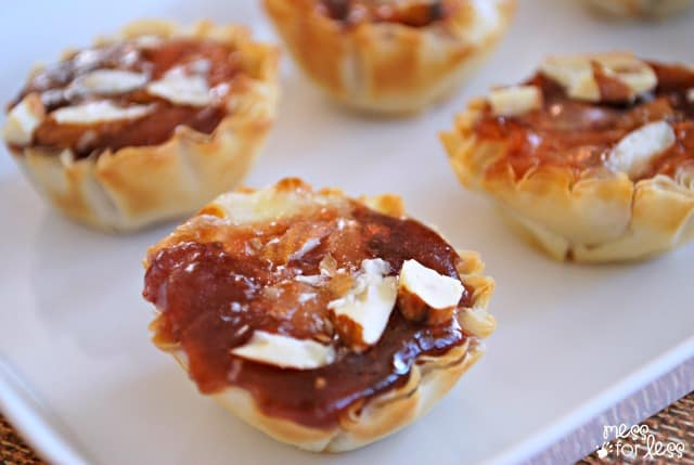 Baked brie with jam cups - ad #FruitandHoney #WalMart