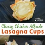 Chicken Alfredo Lasagna Cups