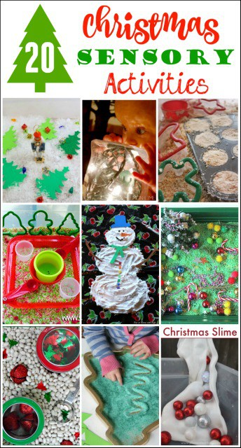 20 Christmas Sensory Activities to keep kids busy and having fun!