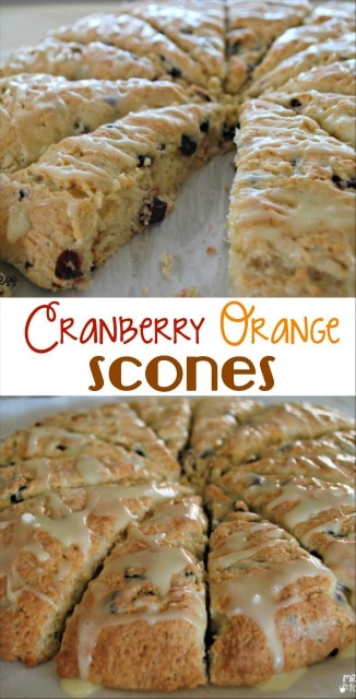 This Cranberry Orange Scone Recipe makes scones that are as good as the ones you'd find at your favorite coffee shop. Make them at home for a fraction of the cost!