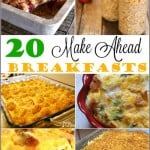 20 Make Ahead Breakfast Recipes