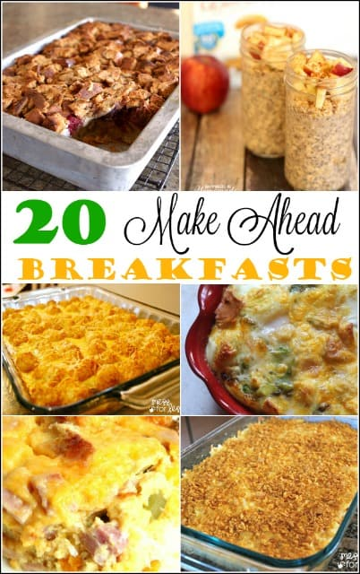 These Make Ahead Breakfast Recipes can all be made the night before for a stress free morning.