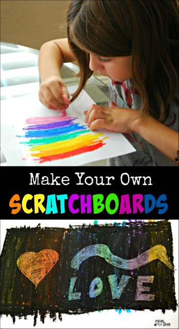 Make Your Own Scratch Art Paper - Never buy scratch art paper again! Even kids can make their own and pick the colors that go underneath!