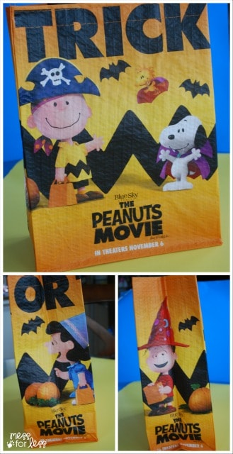 peanuts movie bag at Safeway #sponsored