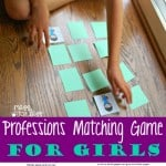 Professions Matching Game for Girls
