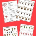 Free Preschool and Kindergarten Worksheets for Christmas