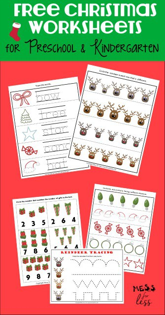 photograph regarding Home and Family Christmas Workbook identified as Absolutely free Preschool and Kindergarten Worksheets for Xmas