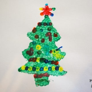Christmas Crafts for Kids – Q-Tip Tree