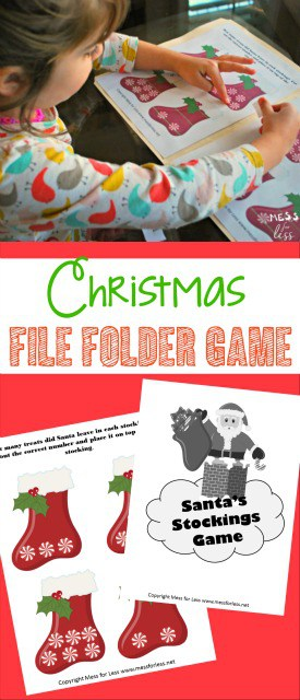 My kids had so much fun playing this Christmas file folder games. Just love all the free printables and worksheets on this site!