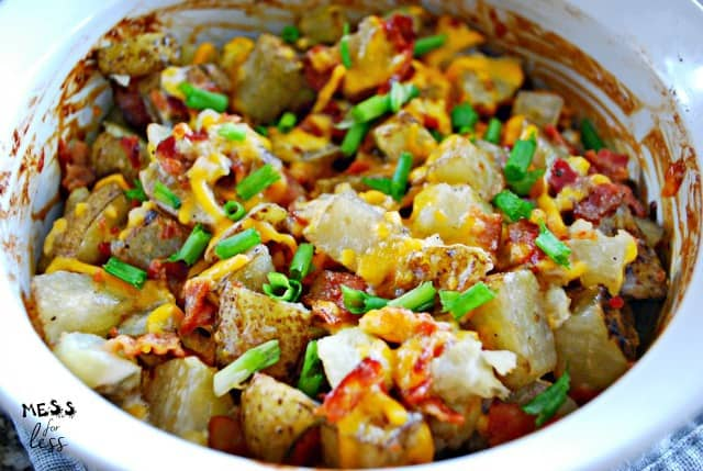 bacon ranch potatoes with cheese
