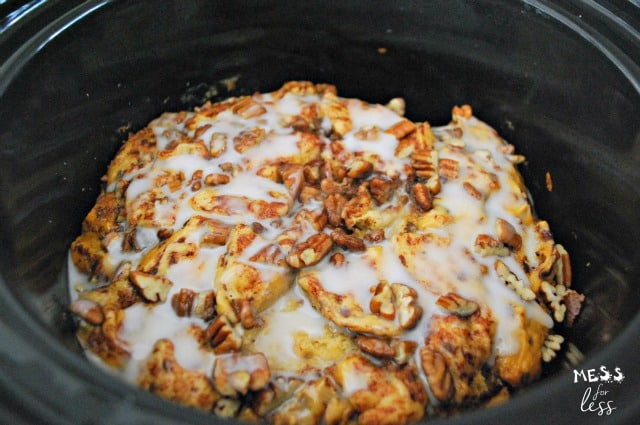 crock pot cinnamon bun french toast