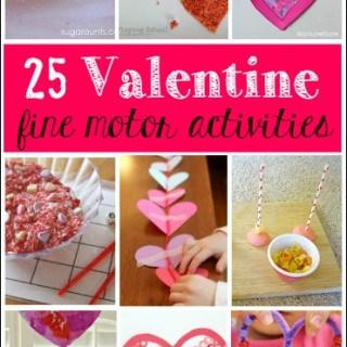 Valentine's Day Fine Motor Skills Activities for Kids
