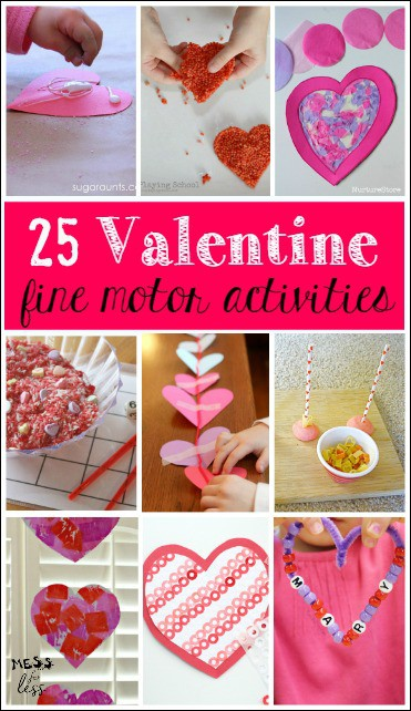 These Valentine's Day Fine Motor Skills Activities for Kids are simple to set up and will provide fine motor practice in a fun way with a Valentine's twist!
