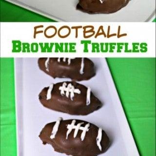 Football Brownie Truffles