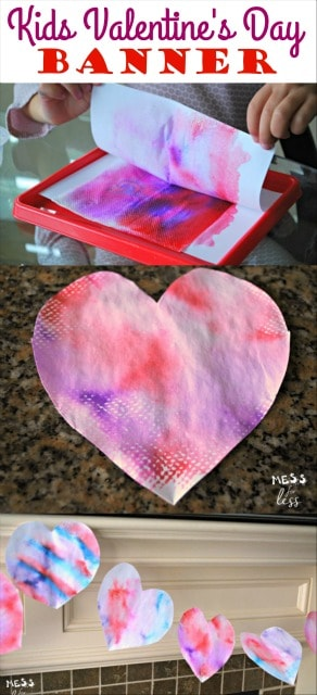 valentine s day craft for kids heart banner mess for less